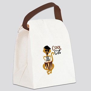 Cool Cat Canvas Lunch Bag