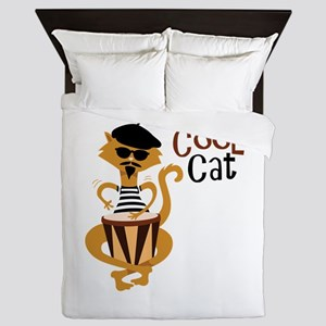 Cool Cat Queen Duvet