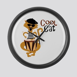 Cool Cat Large Wall Clock