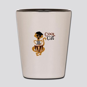 Cool Cat Shot Glass