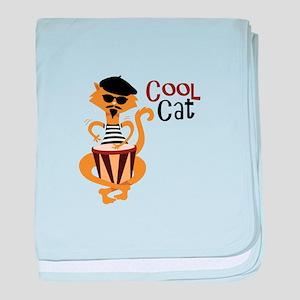 Cool Cat baby blanket