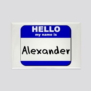 hello my name is alexander Rectangle Magnet