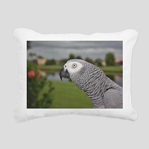 African Grey Parrot lake Rectangular Canvas Pillow