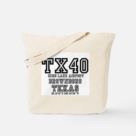 TEXAS AIRFIELDS - TX40 - ECHO LAKE AIRPOR Tote Bag