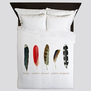 Nature Art Bird Feathers Queen Duvet