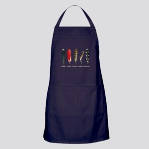 Nature Art Bird Feathers Apron (dark)