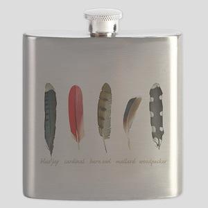 Nature Art Bird Feathers Flask