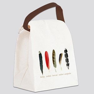 Nature Art Bird Feathers Canvas Lunch Bag