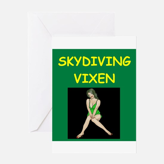SKY diving Greeting Cards