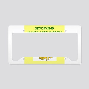 skydiving License Plate Holder