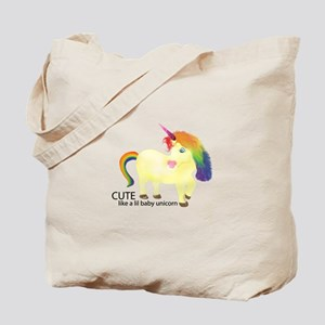 Cute Little Baby Unicorn Tote Bag