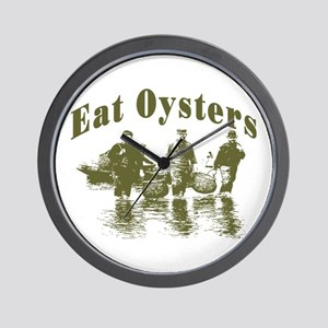 Eat Oysters Wall Clock