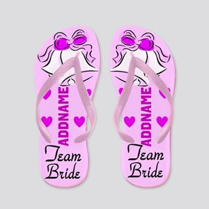 Team Bride Bells Flip Flops
