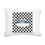 Owl In Tub (Black Checkered) Rectangular Canvas Pi
