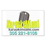 Karaoke_With_Bernie Copy Sticker (Rectangle 50 Pk)
