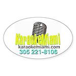 Karaoke_with_bernie Copy Sticker (oval 50 Pk)