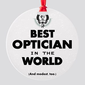 Best Optician in the World Ornament