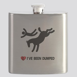 horse love valentines Flask