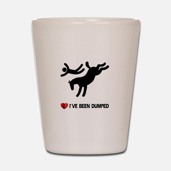 horse love valentines Shot Glass