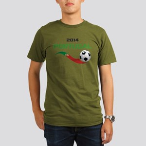 Soccer 2014 PORTUGAL Organic Men's T-Shirt (dark)