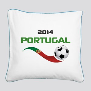 Soccer 2014 PORTUGAL Square Canvas Pillow