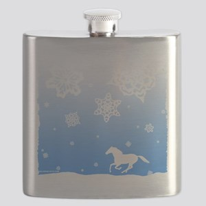 winter white horse Flask