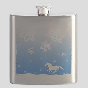 winter white horse Flask