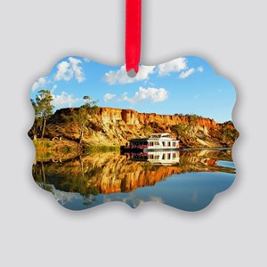 Beautiful Holiday houseboat Picture Ornament