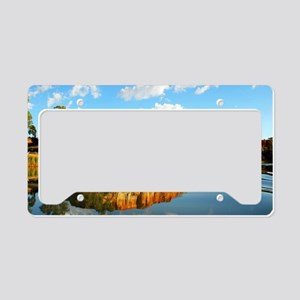 Beautiful Holiday houseboat License Plate Holder
