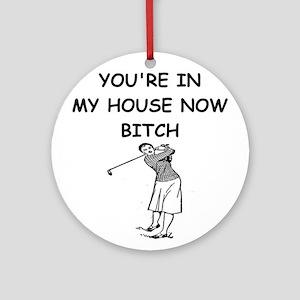 golf Ornament (Round)