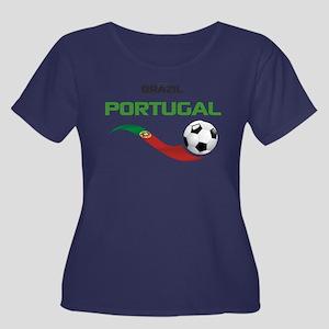Soccer P Women's Plus Size Scoop Neck Dark T-Shirt