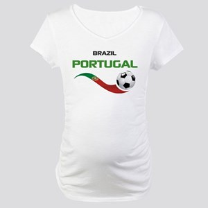 Soccer PORTUGAL Brazil Maternity T-Shirt
