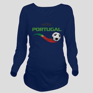 Soccer PORTUGAL Braz Long Sleeve Maternity T-Shirt