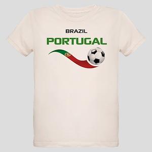 Soccer PORTUGAL Brazil Organic Kids T-Shirt