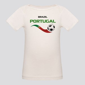 Soccer PORTUGAL Brazil Organic Baby T-Shirt
