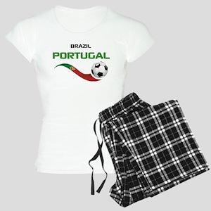 Soccer PORTUGAL Brazil Women's Light Pajamas