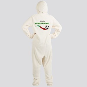Soccer PORTUGAL Brazil Footed Pajamas