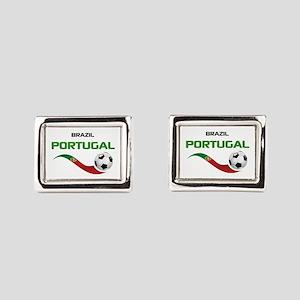 Soccer PORTUGAL Brazil Cufflinks