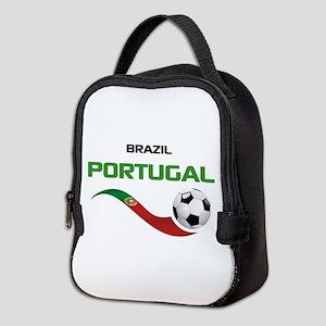 Soccer PORTUGAL Brazil Neoprene Lunch Bag