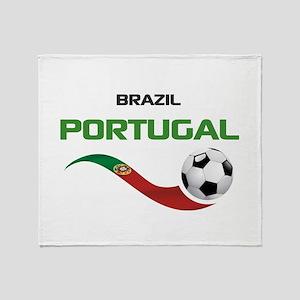 Soccer PORTUGAL Brazil Throw Blanket
