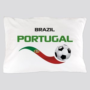 Soccer PORTUGAL Brazil Pillow Case