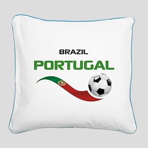 Soccer PORTUGAL Brazil Square Canvas Pillow