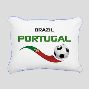 Soccer PORTUGAL Brazil Rectangular Canvas Pillow