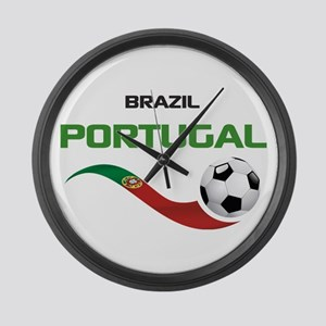 Soccer PORTUGAL Brazil Large Wall Clock