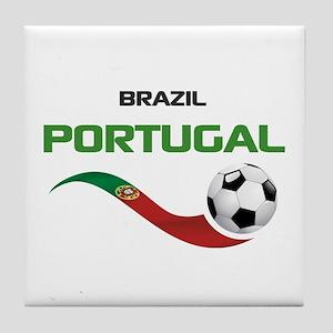 Soccer PORTUGAL Brazil Tile Coaster