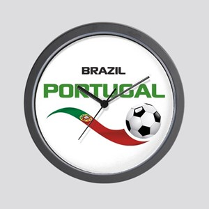 Soccer PORTUGAL Brazil Wall Clock