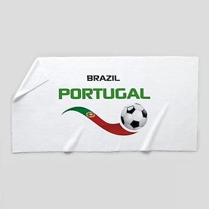 Soccer PORTUGAL Brazil Beach Towel