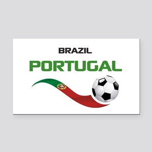 Soccer PORTUGAL Brazil Rectangle Car Magnet