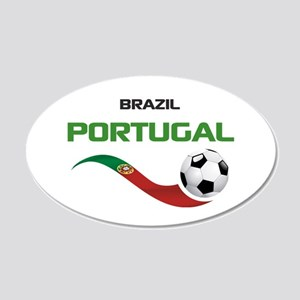 Soccer PORTUGAL Brazil 20x12 Oval Wall Decal