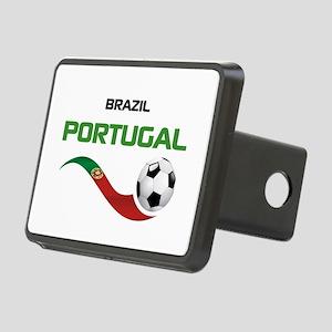 Soccer PORTUGAL Brazil Rectangular Hitch Cover